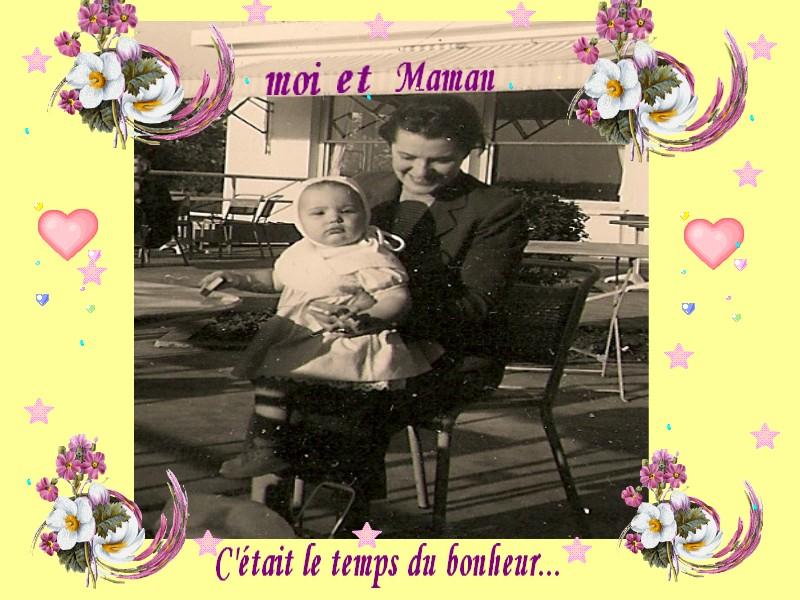 Maman et bébé Françoise 1957